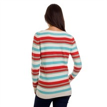 Stripy Ladies´ Jumper White