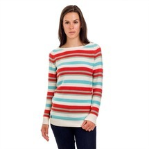 Svetr Stripy Ladies´ Jumper White