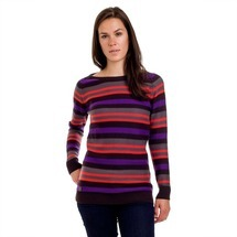 Svetr Stripy Ladies´ Jumper Black
